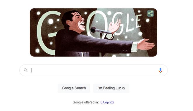 Η Google τιμά τον Βέλγο τραγουδιστή Ζακ Μπρελ