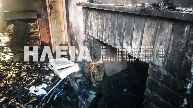 Τραγωδία στη Ηλεία: Νεκρός από φωτιά σε σπίτι στα Καβάσιλα
