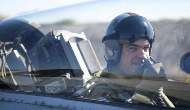 Σε εικονική αερομαχία έλαβε μέρος ο Αλέξης Τσίπρας