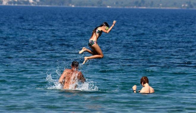 Στιγμιότυπο από παραλία του Ναυπλίου