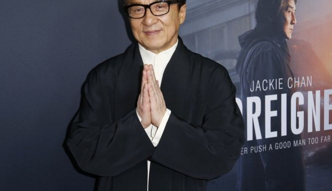 "Jackie Chan arrives at the LA Premiere of ""The Foreigner"" at the Arclight Hollywood on Thursday, Oct. 5, 2017, in Los Angeles. (Photo by Willy Sanjuan/Invision/AP)"