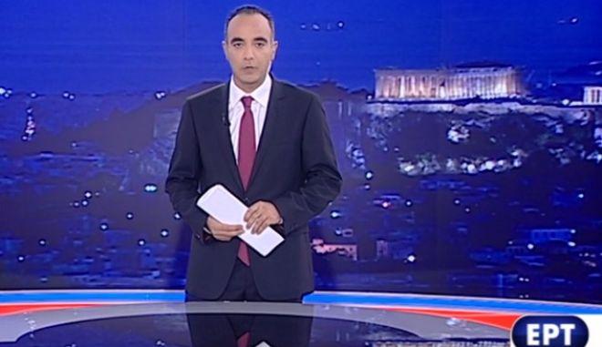 ΕΡΤ: Το καλωσόρισμα του Πάνου Χαρίτου στο πρώτο κεντρικό δελτίο ειδήσεων