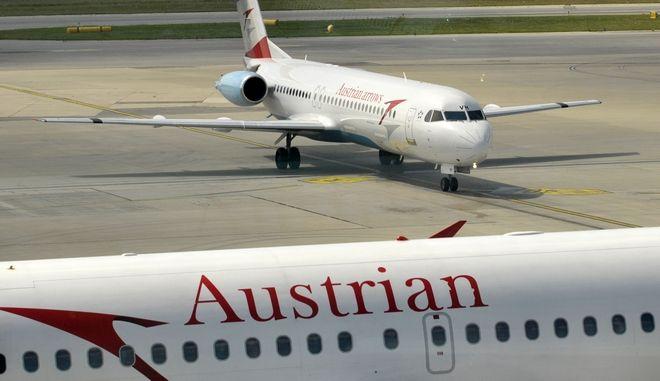 Αεροπλάνο των αερογραμμών Austrian Airlines