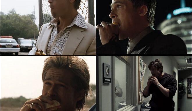 Μπραντ Πιτ: Γιατί τον βλέπουμε να τρώει σε κάθε ταινία