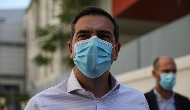 Επίσκεψη του Προέδρου του ΣΥΡΙΖΑ-Προοδευτική Συμμαχία, Αλέξη Τσίπρα, στο νοσοκομείο Ευαγγελισμός