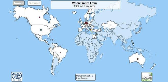 Ο χάρτης της μετανάστευσης. Ποιοι έρχονται στην Ελλάδα και που πηγαίνουν οι Έλληνες
