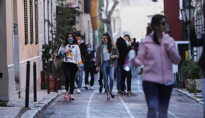 Στιγμιότυπο από το περσινό lockdown στην Αθήνα