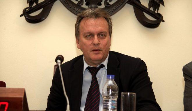 Ενημέρωση της Επιτροπής Παραγωγής και Εμπορίου της Βουλής από τον υπουργό Ναυτιλίας και Αιγαίου  Μιλτιάδη Βαρβιτσιώτη , σχετικά με την ανασυγκρότηση του Υπουργείου και την αναδιάρθρωση των Λιμενικών Αρχών. (EUROKINISSI/ΓΙΩΡΓΟΣ ΚΟΝΤΑΡΙΝΗΣ)