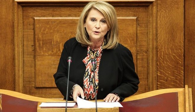 Third day of the discussion on a confidence vote, at the plenum of the Greek Parliament, in Athens, on Oct. 10, 2014 /             . , 10 , 2014