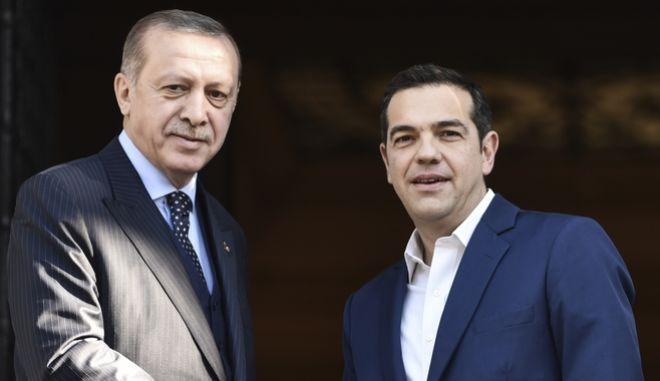 O Aλέξης Τσίπρας με τον Ρετζέπ Ταγίπ Ερντογάν σε παλαιότερη συνάντηση τους