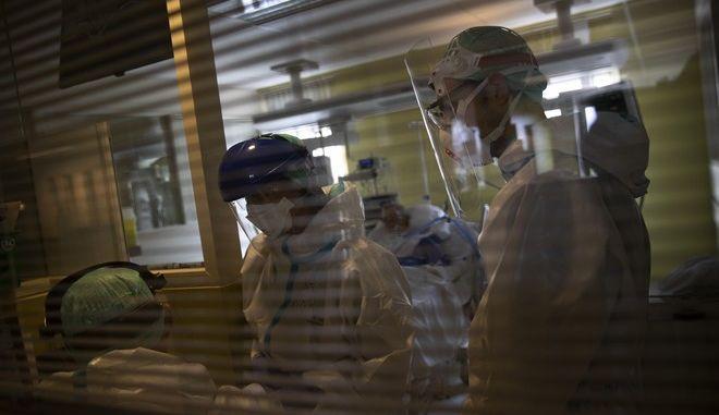 ΜΕΘ σε νοσοκομείο του Βελγίου σε καιρό πανδημίας κορονοϊού