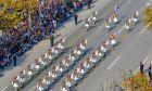 Στιγμιότυπο από παρέλαση στη Θεσσαλονίκη