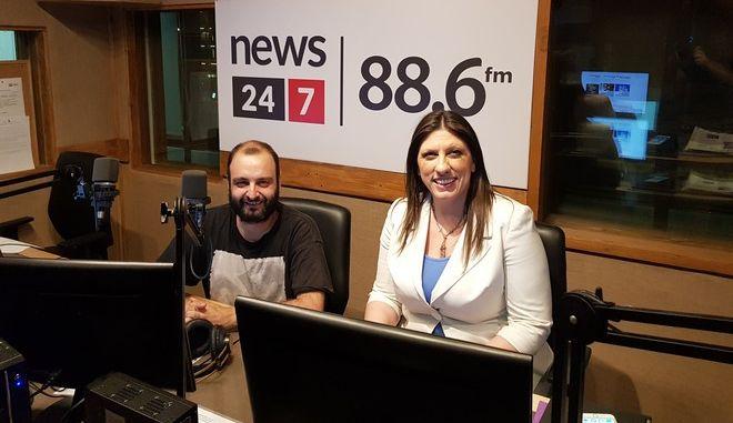 H Ζωή Κωνσταντοπούλου στο ραδιόφωνο 24/7 στους 88,6
