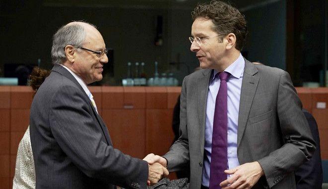 Στιγμιότυπο από την συνδρίαση του Eurogroup την Δευτέρα 9 Δεκεμβρίου 2013, στις Βρυξέλλες (EUROKINISSI/ΣΥΜΒΟΥΛΙΟ ΤΗΣ Ε.Ε.)