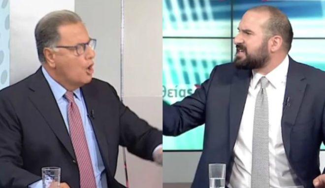 Τζανακόπουλος - Παναγιωτόπουλος: Άγριος καυγάς on air. Κόπηκε η μετάδοση