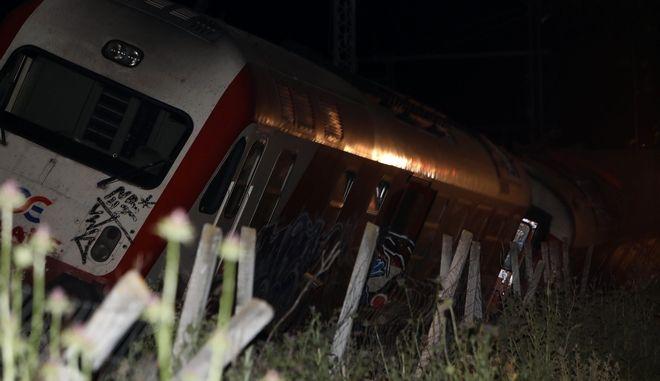 Εκτροχιασμός τρένου (φωτογραφία αρχείου)