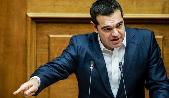 Ο Αλέξης Τσίπρας στα στη Βουλή