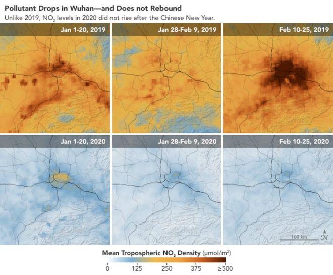 Τα επίπεδα μόλυνσης στην Γουχάν