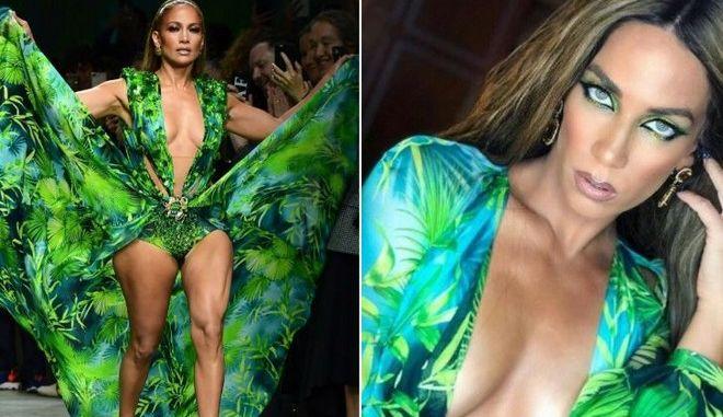 Η Στικούδη φόρεσε το εμβληματικό Versace φόρεμα της Τζένιφερ Λόπεζ