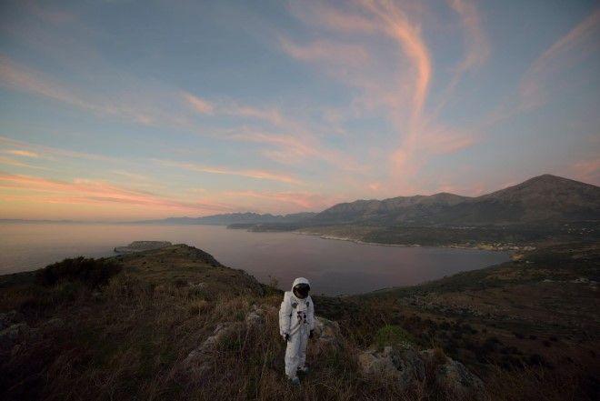 JOHN AKOMFRAH Spaceman  in Landscape