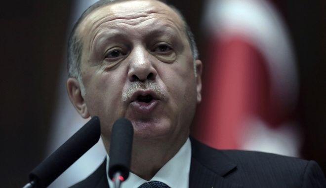 O Τούρκος πρόεδρος Ρετσέπ Ταγίπ Ερντογάν (AP Photo/Burhan Ozbilici)