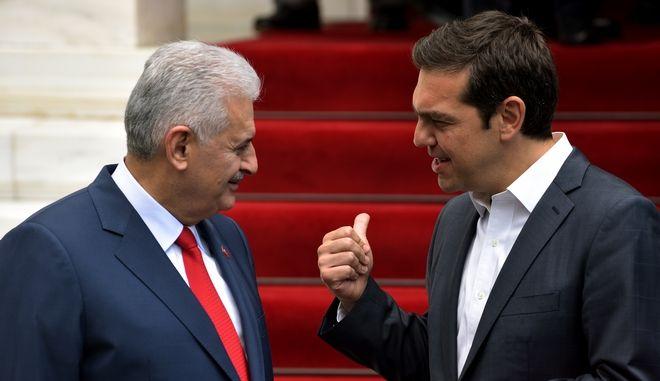 Συνάντηση του Πρωθυπουργού Αλέξη Τσίπρα με τον Τούρκο ομόλογο,Μπιναλί Γιλντιρίμ, Φωτογραφία Αρχείου