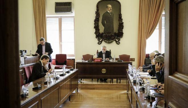 Συνεδρίαση της ειδικής κοινοβουλευτικής επιτροπής για την  υπόθεση NOVARTIS, Παρασκευή 9/3/2018. (EUROKINISSI/ΓΙΑΝΝΗΣ ΠΑΝΑΓΟΠΟΥΛΟΣ)