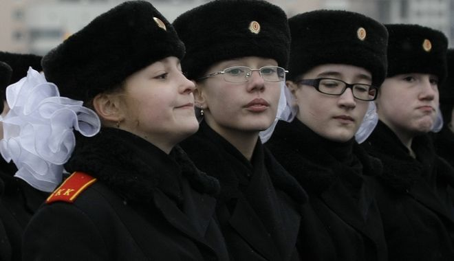 Μαθητική παρέλαση στην Ρωσία