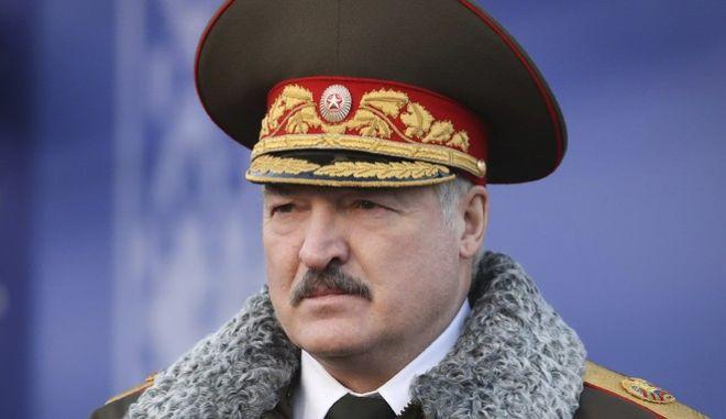 O Αλεξάντερ Λουκασένκο, σε επίσκεψη του στις ειδικές δυνάμεις της Λευκορωσίας, το Δεκέμβριο του 2020.
