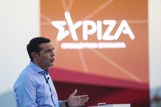 Παρουσίαση από τον Πρόεδρο του ΣΥΡΙΖΑ - Προοδευτική Συμμαχία, Αλέξη Τσίπρα στο Μικρό θέατρο του Πολυχώρου Λιπασμάτων Δραπετσώνας
