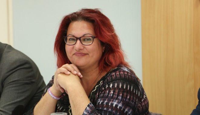 Η δήμαρχος Τήλου, Μαρία Καμμά