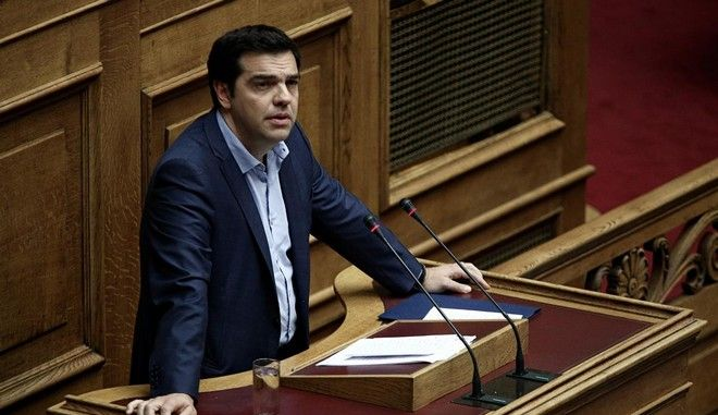 Greek Prime Minister, Alexis Tsipras, attends a discussion and vote at the Greek parliament`s plenum regarding the second part of the multi-bill that will law the preconditioned acts required for a new financial agreement, in Athens, Greece on July 23, 2015. Nick Paleologos / SOOC