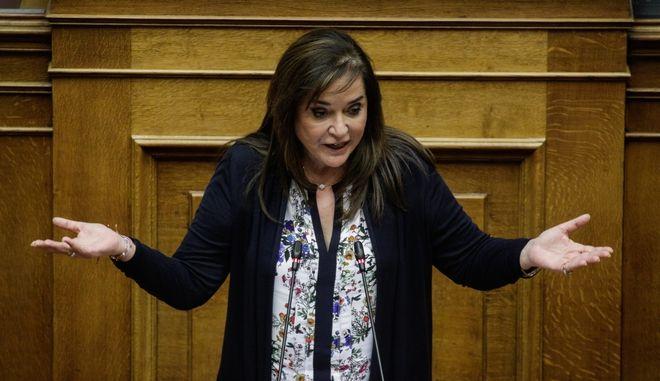 Η Ντόρα Μπακογιάννη στη Βουλή