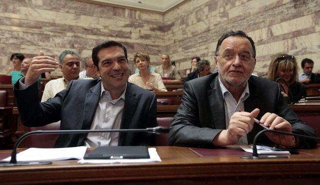 Συνεδρίαση της Κοινοβουλευτικής Ομάδας και της Ευρωομάδα του ΣΥΡΙΖΑ στην αίθουσα της Γερουσίας στη Βουλή την Πέμπτη 12 Ιουνίου 2014. (EUROKINISSI/ΓΕΩΡΓΙΑ ΠΑΝΑΓΟΠΟΥΛΟΥ)