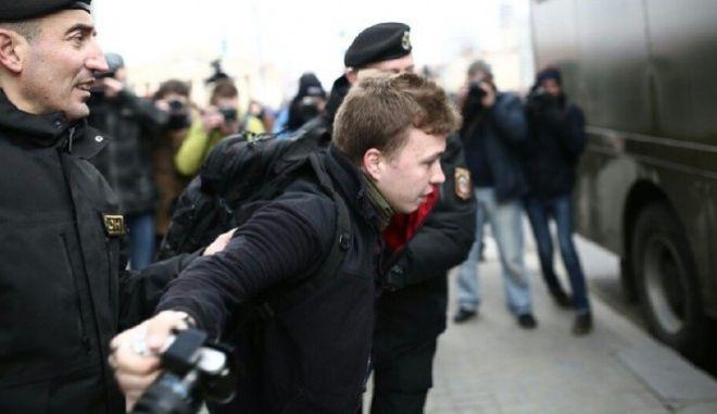 Φωτογραφία από σύλληψη του Ρόμαν Προτασέβιτς