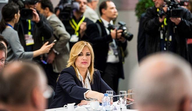 Η Φώφη Γεννηματά στη συνεδρίαση της Κοινοβουλευτικής Ομάδας των Σοσιαλιστών και Δημοκρατών