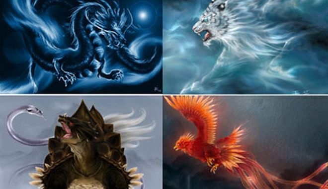 Τα τέσσερα μυθικά πλάσματα της Κίνας