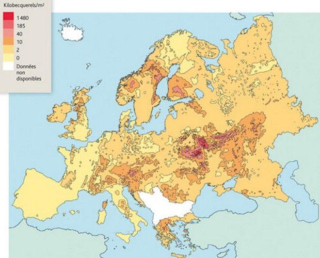 Η εξάπλωση του ραδιενεργού νέφους του Τσερνόμπιλ