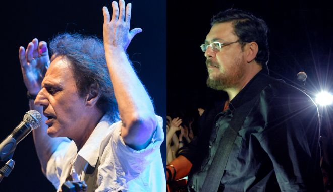 Βασίλης Παπακωνσταντίνου & Λαυρέντης Μαχαιρίτσας μαζί στη σκηνή του θέατρου Πέτρας