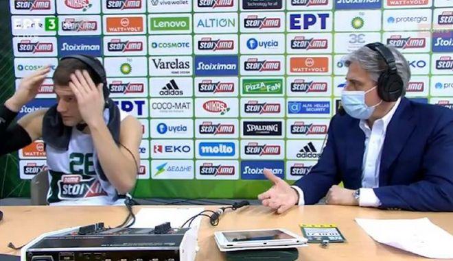 Ο Νέντοβιτς προβληματίστηκε για το... μαλλί του σε τηλεοπτική συνέντευξη
