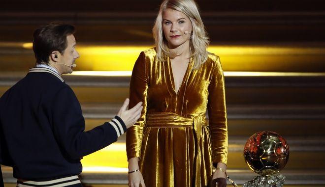 Η Νορβηγίδα Ada Hegerberg στην τελετή απονομής των βραβείων Ballon d'Or.