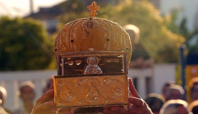 Μέρος των λειψάνων της Αγίας Μαρίνας