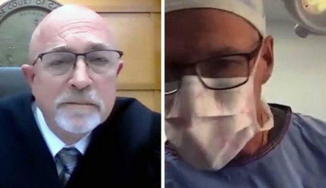 Ο γιατρός σε δίκη ενώ κάνει επέμβαση