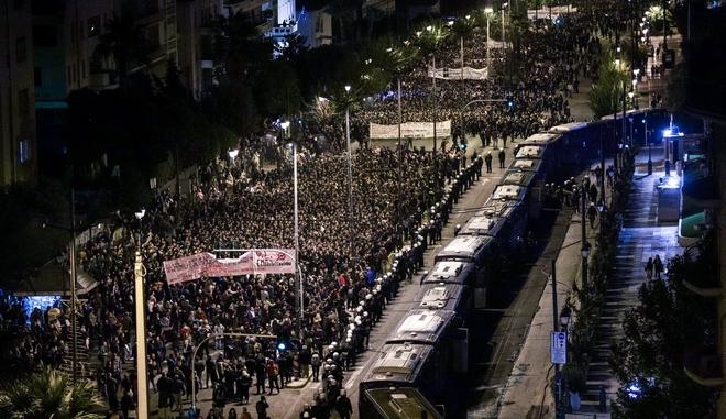 Πορεία για την 46η επέτειο από την Εξέγερση του Πολυτεχνείου (Φωτογραφία αρχείου)