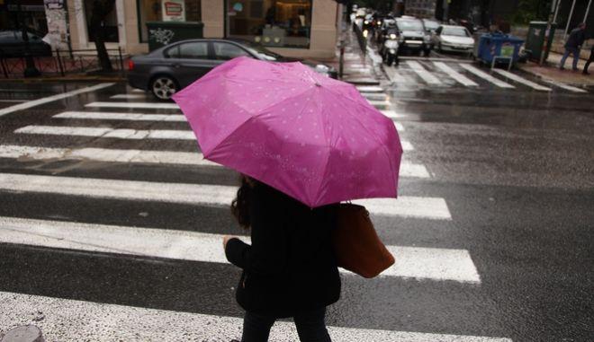 Βροχή στην Αθήνα την Πέμπτη 9 Μαρτίου 2017. (EUROKINISSI/ΓΙΑΝΝΗΣ ΠΑΝΑΓΟΠΟΥΛΟΣ)