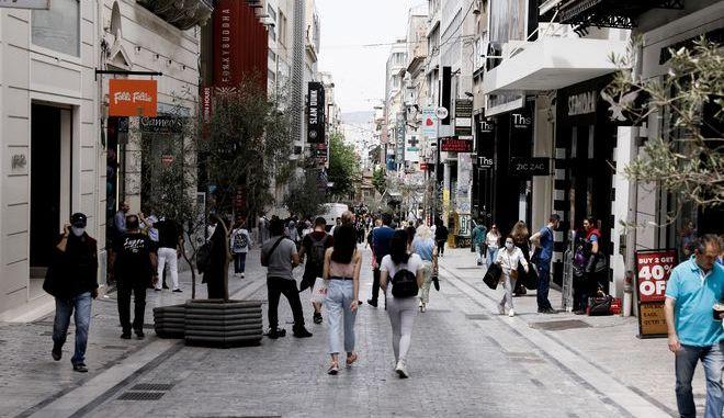 Εικόνα από την Ερμού στην Αθήνα