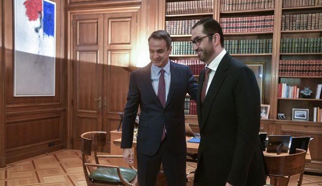 Συνάντηση του Πρωθυπουργού Κυριάκου Μητσοτάκη με τον Υπουργό Επικρατείας των Ηνωμένων Αραβικών Εμιράτων