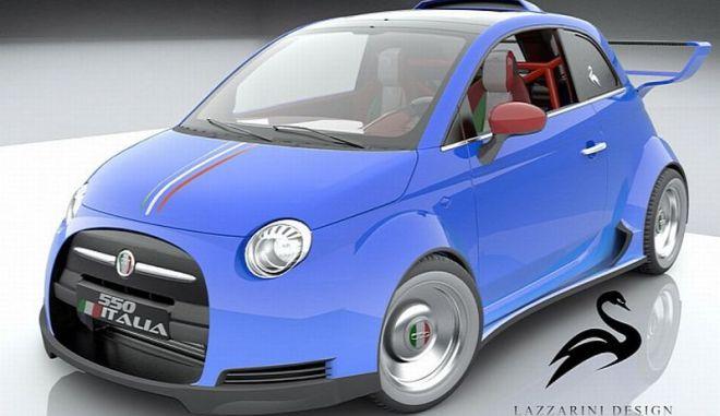 Lazzarini Design. Ονειρεύεται το Fiat 550 Italia με κινητήρα Ferrari
