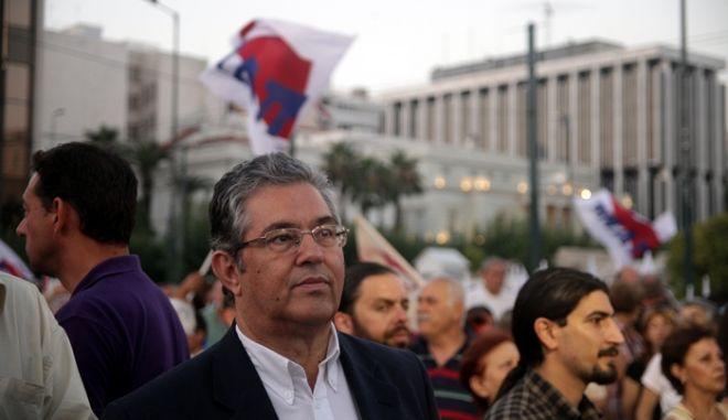 Συλλαλητήριο του ΠΑΜΕ στο Σύνταγμα την Πέμπτη 11 Ιουλίου 2013, ενάντια στο  πολυ-νομοσχέδιο «σκούπα» που κατατέθηκε στην Βουλή.  (EUROKINISSI)