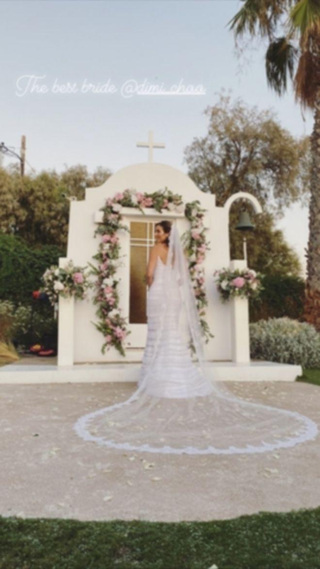 Εικόνα από τον γάμο της Δήμητρας Λαζαράτου
